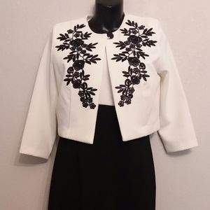 Black and white dress with jacket
